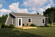Cottage Style House Plan - 2 Beds 1.5 Baths 831 Sq/Ft Plan #1064-25