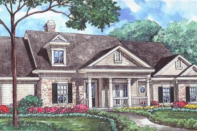 Traditional Exterior - Front Elevation Plan #61-106 - Houseplans.com