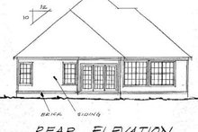 Home Plan - Traditional Exterior - Rear Elevation Plan #20-369