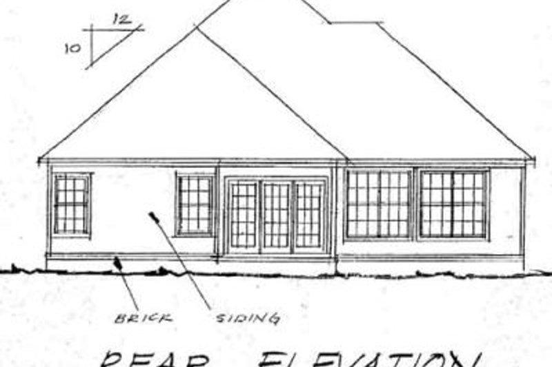 Traditional Exterior - Rear Elevation Plan #20-369 - Houseplans.com