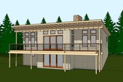 Contemporary Style House Plan - 3 Beds 3 Baths 1023 Sq/Ft Plan #481-11 Exterior - Front Elevation