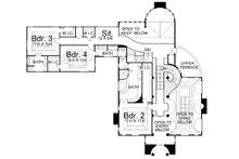 European Floor Plan - Upper Floor Plan Plan #119-174