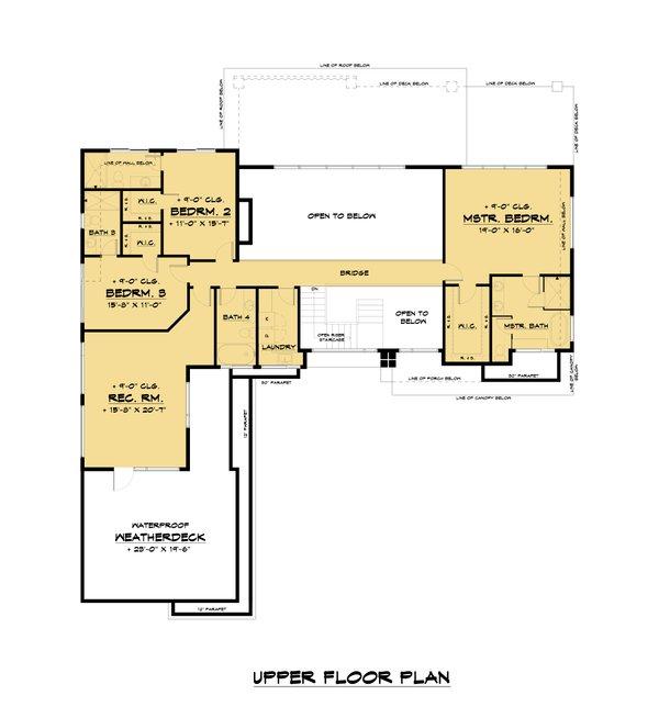 Dream House Plan - Contemporary Floor Plan - Upper Floor Plan #1066-110