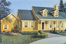 Architectural House Design - Country Exterior - Front Elevation Plan #314-164