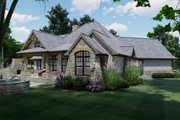 Craftsman Style House Plan - 3 Beds 2 Baths 1848 Sq/Ft Plan #120-171 Exterior - Rear Elevation