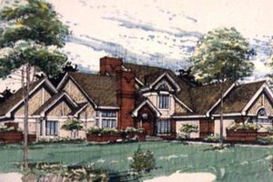 Modern Exterior - Front Elevation Plan #320-135