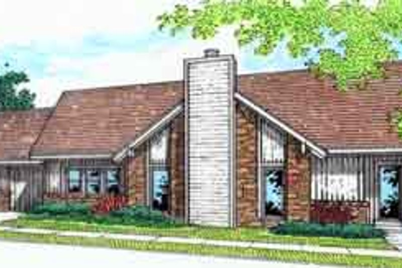 Ranch Style House Plan - 3 Beds 2 Baths 1149 Sq/Ft Plan #45-226 Exterior - Front Elevation
