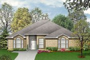 European Style House Plan - 4 Beds 2 Baths 2105 Sq/Ft Plan #84-244 Exterior - Front Elevation
