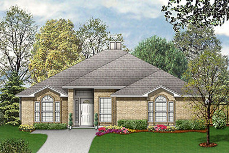 European Exterior - Front Elevation Plan #84-244