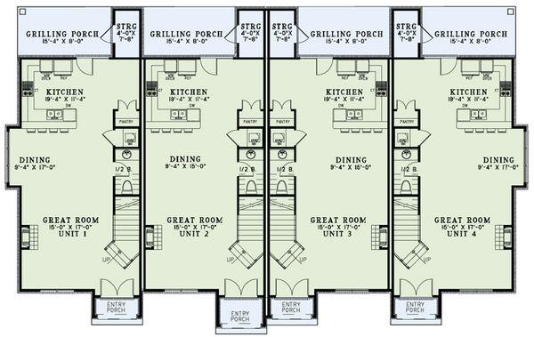European Floor Plan - Main Floor Plan Plan #17-2525
