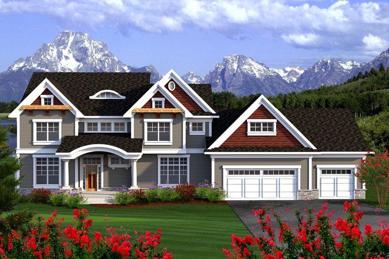 Craftsman Exterior - Front Elevation Plan #70-1185
