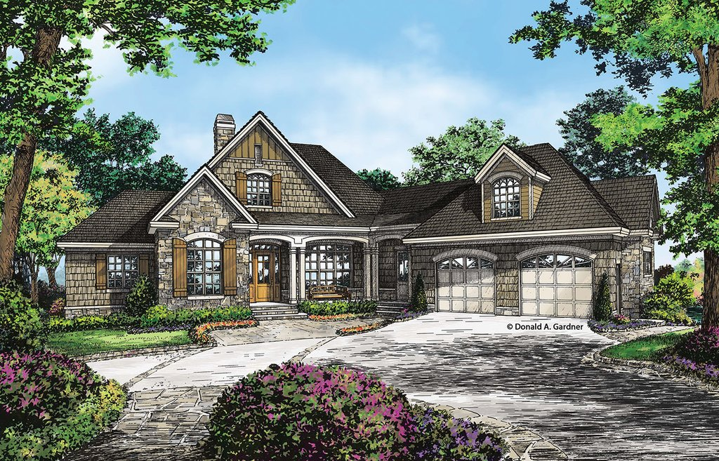 Craftsman Style House Plan 3 Beds 3 5 Baths 3022 Sq Ft