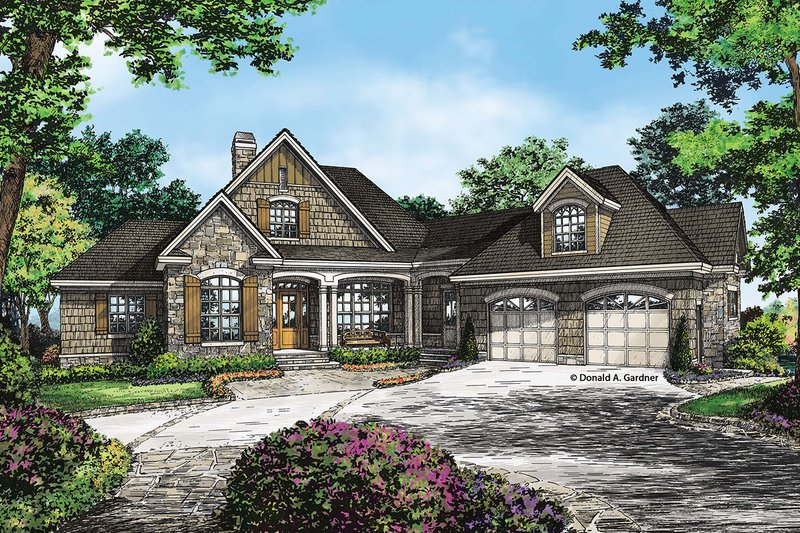 Craftsman Exterior - Front Elevation Plan #929-26 - Houseplans.com