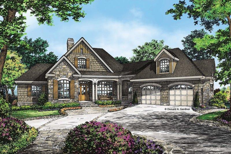 Craftsman Exterior - Front Elevation Plan #929-26 - Houseplans.com
