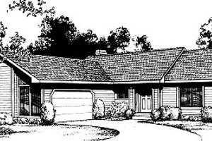 Traditional Exterior - Front Elevation Plan #85-112
