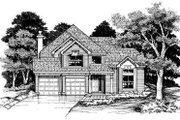 Traditional Style House Plan - 5 Beds 3 Baths 2362 Sq/Ft Plan #50-174 Exterior - Front Elevation