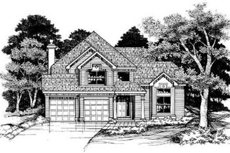Home Plan - Traditional Exterior - Front Elevation Plan #50-174