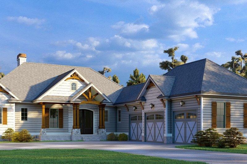 Dream House Plan - Craftsman Exterior - Front Elevation Plan #437-128