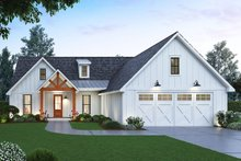 Home Plan Design - Farmhouse Exterior - Front Elevation Plan #1074-1