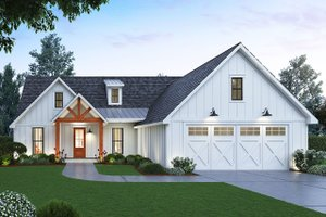 Dream House Plan - Farmhouse Exterior - Front Elevation Plan #1074-1