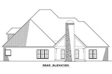 European Exterior - Rear Elevation Plan #923-76
