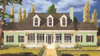 Southern Exterior - Front Elevation Plan #3-206