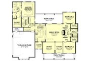 Farmhouse Style House Plan - 3 Beds 2 Baths 2077 Sq/Ft Plan #430-164 Floor Plan - Main Floor Plan