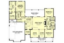 Farmhouse Floor Plan - Main Floor Plan Plan #430-164