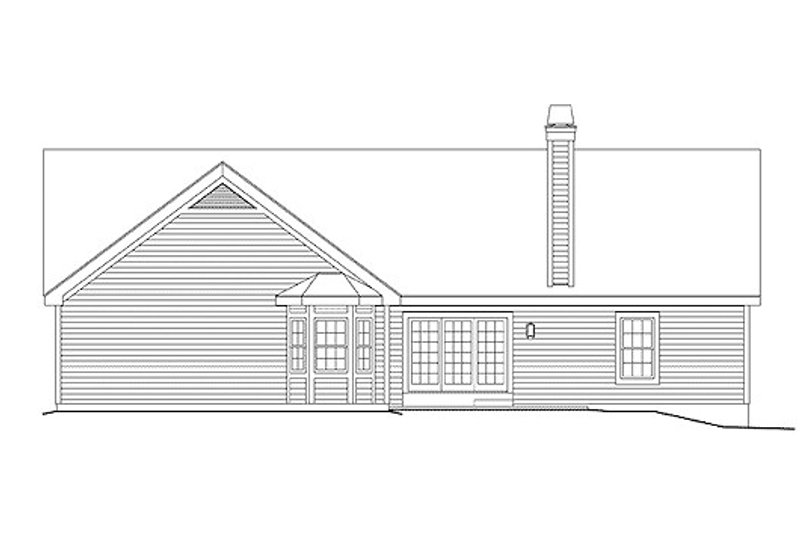 Southern Exterior - Rear Elevation Plan #57-325 - Houseplans.com