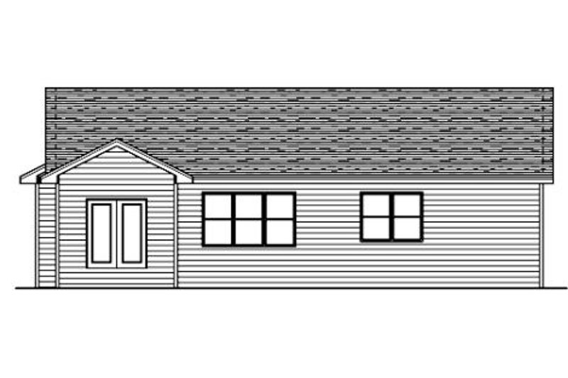 Traditional Exterior - Rear Elevation Plan #51-373 - Houseplans.com