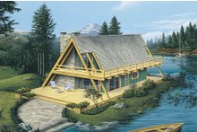 Dream House Plan - Cabin Exterior - Front Elevation Plan #57-502