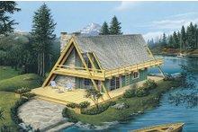 House Plan Design - Cabin Exterior - Front Elevation Plan #57-502