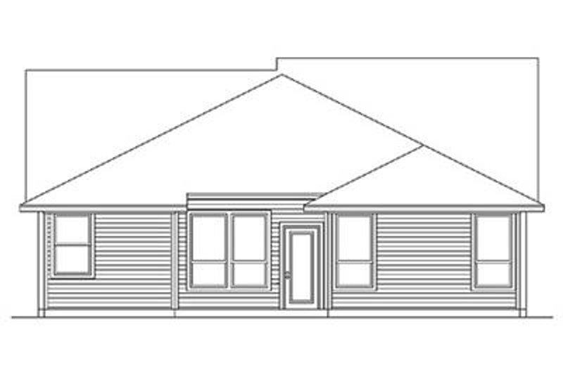 Craftsman Exterior - Rear Elevation Plan #84-266 - Houseplans.com