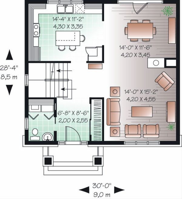Traditional Floor Plan - Main Floor Plan Plan #23-738
