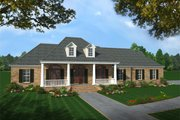 Southern Style House Plan - 4 Beds 3 Baths 2501 Sq/Ft Plan #21-176 Exterior - Front Elevation