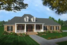 Southern Exterior - Front Elevation Plan #21-176