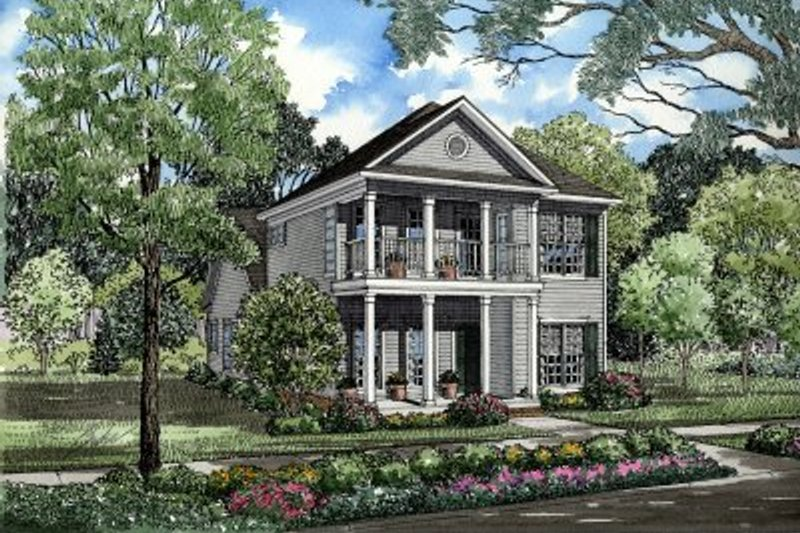 Home Plan - Southern Exterior - Front Elevation Plan #17-273