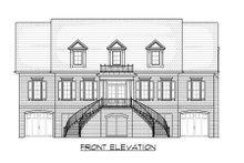 Classical Exterior - Front Elevation Plan #1054-52