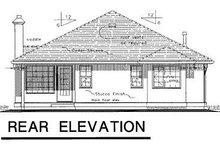 House Blueprint - Ranch Exterior - Rear Elevation Plan #18-132