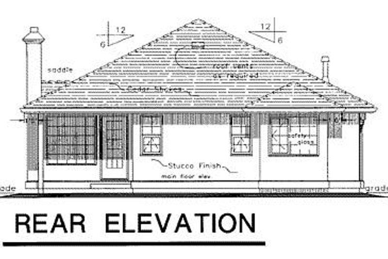 Ranch Exterior - Rear Elevation Plan #18-132 - Houseplans.com