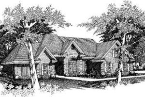 European Exterior - Front Elevation Plan #329-121