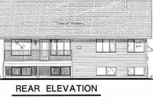 House Blueprint - Traditional Exterior - Rear Elevation Plan #18-311