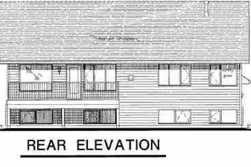 Traditional Exterior - Rear Elevation Plan #18-311 - Houseplans.com