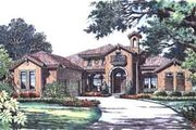 European Style House Plan - 2 Beds 2.5 Baths 3606 Sq/Ft Plan #135-133 Exterior - Front Elevation