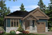 Craftsman Style House Plan - 2 Beds 1 Baths 1196 Sq/Ft Plan #138-359 Exterior - Front Elevation