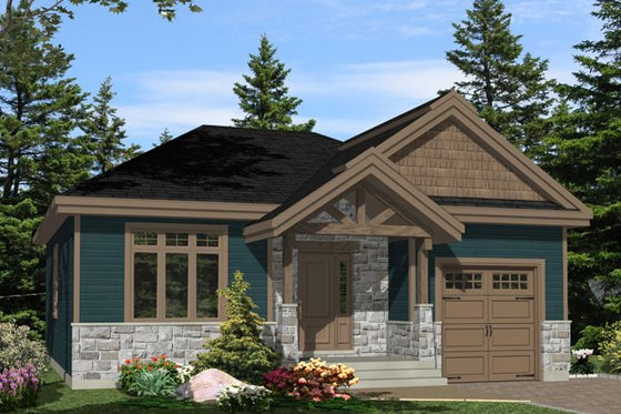 Craftsman Exterior - Front Elevation Plan #138-359