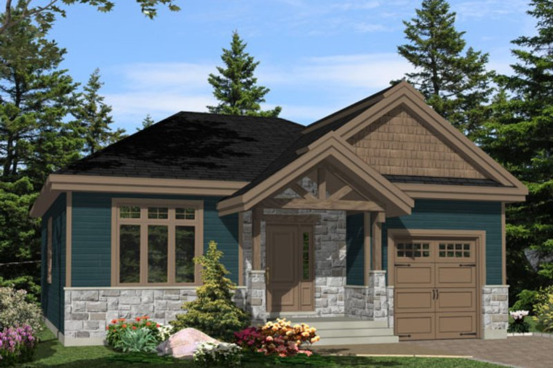 Craftsman Style House Plan - 2 Beds 1 Baths 1196 Sq/Ft Plan #138-359
