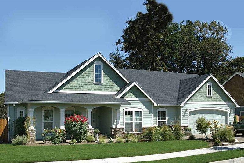 Dream House Plan - Craftsman Exterior - Front Elevation Plan #48-101