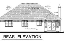 House Blueprint - Traditional Exterior - Rear Elevation Plan #18-183