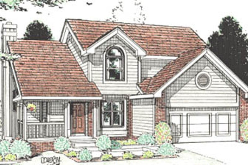 Home Plan Design - Traditional Exterior - Front Elevation Plan #20-603